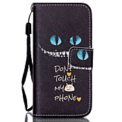 Smile  Pattern PU Leather Phone Case For iPhone 5C
