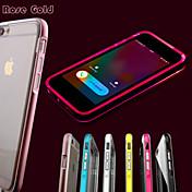llamada llevó a parpadear caso de la cubierta de TPU transparente para el iphone 6plus / 6s más (colores surtidos)