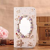 For Samsung Galaxy Case Card Holder / Rhinestone / Mirror / Flip Case Full Body Case Sexy Lady PU Leather SamsungS7 edge / S7 / S6 edge