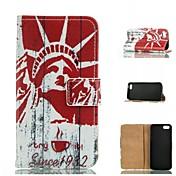 아이폰 5 / 5S 용 스탠드 몸 전체의 경우와 특별한 디자인 색깔의 그림이나 패턴 그래픽 지갑 경우