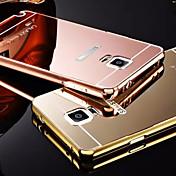 용 Samsung Galaxy Note 도금 / 거울 케이스 뒷면 커버 케이스 단색 메탈 Samsung Note 5 / Note 4 / Note 3