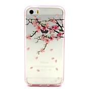 Para Funda iPhone 5 Transparente / Diseños Funda Cubierta Trasera Funda Flor Suave TPU iPhone SE/5s/5
