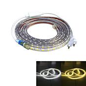 Jiawen impermeable 52w 3200lm 240x5050 SMD llevó la luz de tira flexible (4m de longitud / 220v)