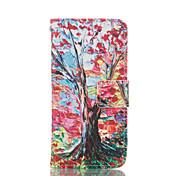 아이폰 6 / 6S를위한 나무 패턴 PU 가죽 전신 카드 슬롯 케이스와 스탠드