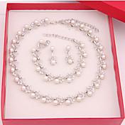 Mujer Perla artificial joyería de disfraz Legierung Collares Pendientes Pulseras Para Boda Fiesta Ocasión especial Cumpleaños Pedida