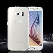 For Samsung Galaxy Case Ultra-thin / Transparent Case Back Cover Case Solid Color TPU SamsungS6 edge plus / S6 edge / S6 / S5 Mini / S5 /