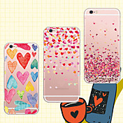 For iPhone 5 Case Transparent / Pattern Case Back Cover Case Heart Soft TPU iPhone SE/5s/5