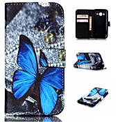 삼성 갤럭시 J1 에이스 / J2에 대한 양각 색깔의 그림이나 패턴 PU 가죽 지갑 휴대 전화 권총