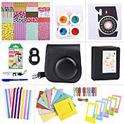 paquetes de accesorios de la cámara fijaron para el mini Fujifilm Instax 8 (mini película / mini-8 casos / etiqueta / álbum, etc. (negro)