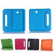 용 삼성 갤럭시 케이스 충격방지 / 스탠드 / 아이 안전 케이스 풀 바디 케이스 단색 실리콘 Samsung Tab E 9.6