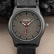 Hombre Reloj Deportivo Reloj de Pulsera Cuarzo Reloj Casual Tejido Banda Negro Negro