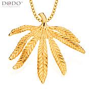 la moda deja de oro del hombre colgante de la joyería 18k plateó los collares de cadena& colgantes de la vendimia de las mujeres joyas