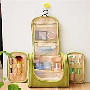 1개 여행 가방 여행용 세면도구 가방 화장품 백 방수 휴대용 용 여행용 보관함 패브릭-그레이 그린 블루 네이비