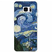 용 Samsung Galaxy S7 Edge 패턴 케이스 뒷면 커버 케이스 풍경 TPU Samsung S7 edge / S7 / S6 / S5