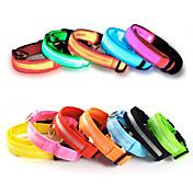 고양이 / 개 목걸이 레드 / 오렌지 / 옐로우 / 그린 / 블루 / 화이트 / 핑크 강아지 의류 여름 솔리드 LED