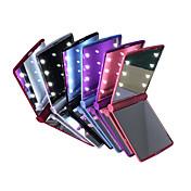 espejos LED Mini cosmética plegable portátil de mano compacto conforman espejo de bolsillo con 8 LED para la señora mujeres niñas