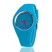 Mujer Reloj de Moda Reloj Casual Cuarzo Silicona Banda Negro Blanco Azul Rojo Naranja Marrón Verde Rosa Morado Amarillo Rose