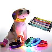 고양이 / 개 목걸이 레드 / 오렌지 / 옐로우 / 그린 / 블루 / 화이트 / 핑크 강아지 의류 여름 / 모든계절/가을 매트한 블랙 LED