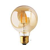 1개 GMY E26/E27 2W 2 COB ≥180 lm 따뜻한 화이트 G80 edison 빈티지 LED필라멘트 전구 AC 220-240 V