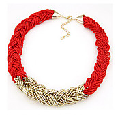 Necklace Collar Necklaces Jewelry Daily / Casual Fashion Alloy / Fabric Black / Yellow / Red / Green 1pc Gift