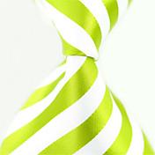 패셔너블 화이트 / 그린 패브릭 남성 Tie Bar-1PC