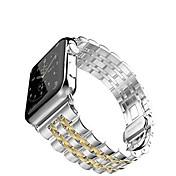 Reloj de la venda para el reloj de la manzana 38m m 42m m pulsera de acero inoxidable mariposa hebilla