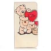 Para Funda iPhone 7 / Funda iPhone 7 Plus / Funda iPhone 6 Cartera / Soporte de Coche / Flip Funda Cuerpo Entero Funda Corazón DuraCuero