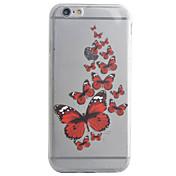 용 아이폰7케이스 / 아이폰7플러스 케이스 / 아이폰6케이스 패턴 케이스 뒷면 커버 케이스 버터플라이 소프트 TPU Apple아이폰 7 플러스 / 아이폰 (7) / iPhone 6s Plus/6 Plus / iPhone 6s/6 / iPhone