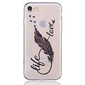 용 아이폰7케이스 / 아이폰7플러스 케이스 / 아이폰6케이스 투명 / 엠보싱 텍스쳐 / 패턴 케이스 뒷면 커버 케이스 깃털 소프트 TPU Apple아이폰 7 플러스 / 아이폰 (7) / iPhone 6s Plus/6 Plus / iPhone
