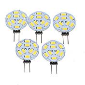 5 x g4 / mr11 / gu4 / gz4 1.5w blanco caliente 200-220lm bombillas llevadas (12v ac / dc)