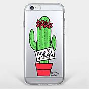 용 패턴 케이스 뒷면 커버 케이스 꽃장식 소프트 TPU Apple 아이폰 7 플러스 / 아이폰 (7) / iPhone 6s Plus/6 Plus / iPhone 6s/6 / iPhone SE/5s/5