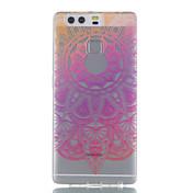 용 울트라 씬 / 투명 / 패턴 케이스 뒷면 커버 케이스 꽃장식 소프트 TPU Huawei 화웨이 P9 / 화웨이 P9 라이트 / Huawei P8 Lite
