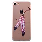 Para Funda iPhone 7 / Funda iPhone 7 Plus / Funda iPhone 6 Transparente / Diseños Funda Cubierta Trasera Funda Pluma Suave TPU Apple