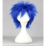 여성 인조 합성 가발 캡 없음 잛은 스트레이트 블루 코스플레이 가발 할로윈 가발 카니발 가발 의상 가발