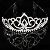 여성 라인석 크리스탈 투구-웨딩 특별한날 왕관