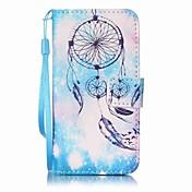 azul pintura campanilla caja del teléfono de la PU para el itouch de la manzana 5 6