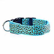 고양이 / 개 칼라 LED 조명 / 조절 가능/리트랙터블 / 전자/전자 / 충전식 매트한 블랙 레드 / 그린 / 블루 / 옐로우 / 퍼플 / 오렌지 나일론