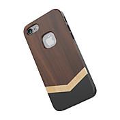 용 충격방지 케이스 뒷면 커버 케이스 나무결 하드 나무 용 Apple 아이폰 (7)