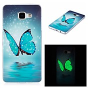 For Samsung Galaxy  A3(2016) Cover Case Glow in The Dark IMD Pattern Case Back Butterfly Soft TPU for  Samsung A5(2016)