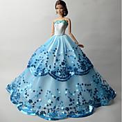 파티/이브닝 드레스 에 대한 바비 인형 드레스 에 대한 여자의 인형 장난감
