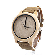 Women's Men's Fashion Watch Wood Watch Quartz / Wood Band Casual Khaki