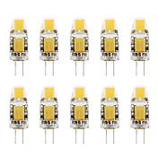 1W G4 LED Bi-pin 조명 T COB 110-130 lm 따뜻한 화이트 차가운 화이트 V 10개