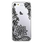 용 울트라 씬 투명 패턴 케이스 뒷면 커버 케이스 레이스 디자인 소프트 TPU 용 Apple 아이폰 7 플러스 아이폰 (7) iPhone 6s Plus/6 Plus iPhone 6s/6 iPhone SE/5s/5
