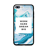 For Pattern Case Back Cover Case Word Phrase Hard Acrylic for iPhone 7 Plus 7 6s Plus 6 Plus 6s 6