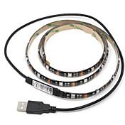 5050 RGB가 RGB 컨트롤러 스트립 조명의 USB 커넥터를 주도 30smd 1PCS IP65 방수 3.5W의 1m 직류 5V의