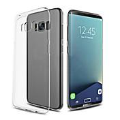용 울트라 씬 투명 케이스 뒷면 커버 케이스 단색 소프트 TPU 용 Samsung S8 S8 Plus