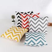 1 개 천닐 베개 커버,줄무늬 기하학 모던/콘템포라리 전통적/ 클래식
