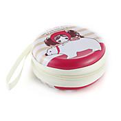 손목 스피너 손가락 가방 어린 소녀 패턴 금속 이어폰 범용 케이스