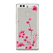 Para Transparente Diseños Funda Cubierta Trasera Funda Flor Suave TPU para HuaweiHuawei P10 Plus Huawei P10 Lite Huawei P10 Huawei P9