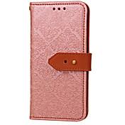 용 지갑 카드 홀더 스탠드 플립 엠보싱 텍스쳐 패턴 케이스 풀 바디 케이스 꽃장식 하드 인조 가죽 용 Apple아이폰 7 플러스 아이폰 (7) iPhone 6s Plus iPhone 6 Plus iPhone 6s 아이폰 6 iPhone SE/5s